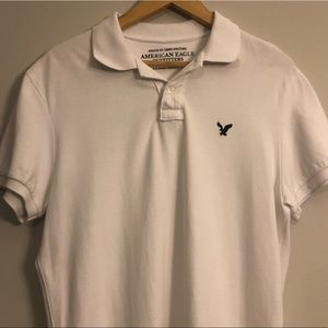 <American Eagle> White Polo Shirt